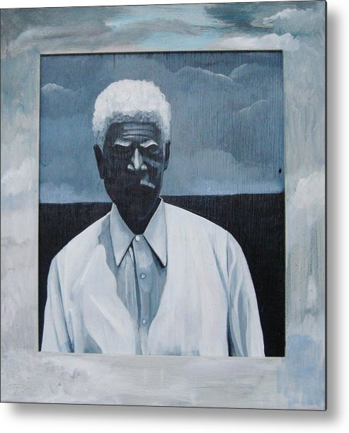 Man Metal Print featuring the painting Survivor James by Joyce Owens
