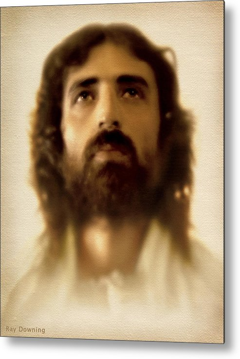 Jesus Metal Print featuring the digital art Jesus In Glory by Ray Downing