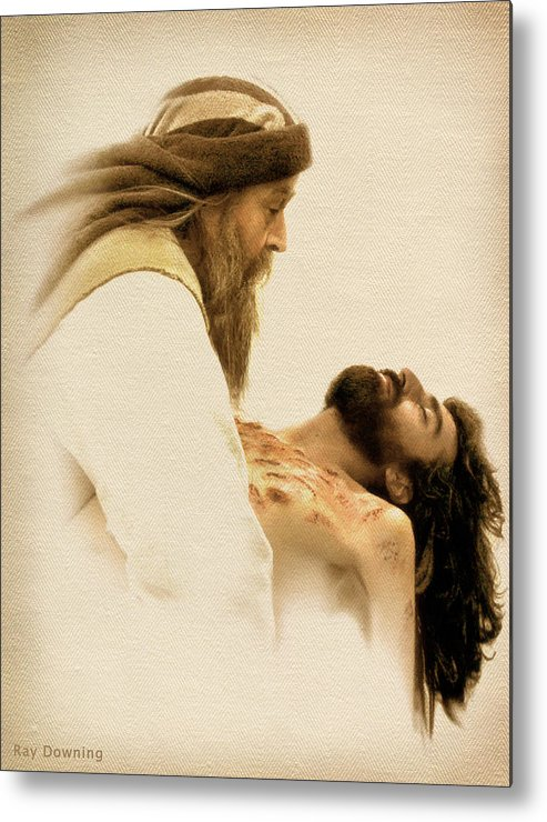 Jesus Metal Print featuring the digital art Jesus Laid To Rest by Ray Downing