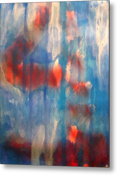 Christian Metal Print featuring the painting On A Clear Day - Red Forever by W Todd Durrance