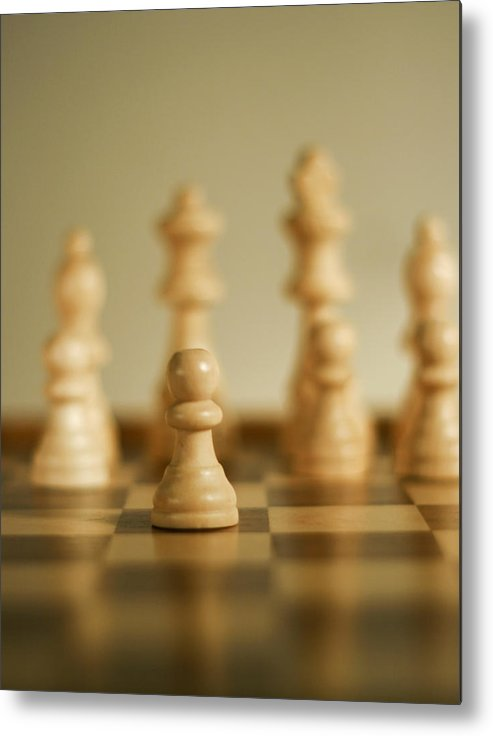 Chess Metal Print featuring the photograph Forward Progress by Mark Michel