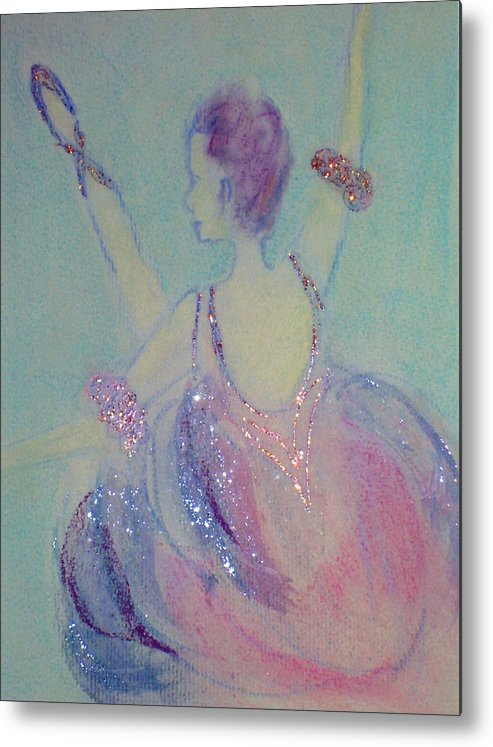 Dancer Metal Print featuring the painting Dancer At The Follies by Michela Akers