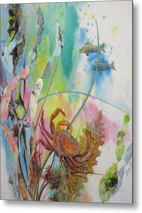 Crab Metal Print featuring the painting Dinner Time by Don Trout