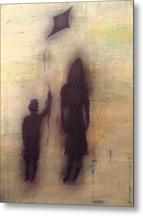 Abstract Metal Print featuring the painting Shadows 2 by W Todd Durrance