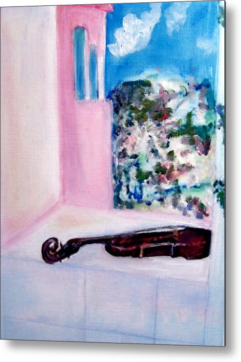 Violin Metal Print featuring the painting The Violin by Michela Akers