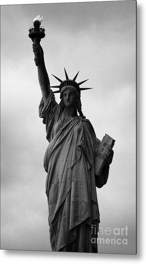 Usa Metal Print featuring the photograph Statue Of Liberty National Monument Liberty Island New York City Nyc by Joe Fox