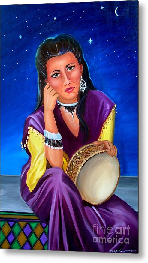 Gypsy Metal Print featuring the painting The Gypsy by Lora Duguay