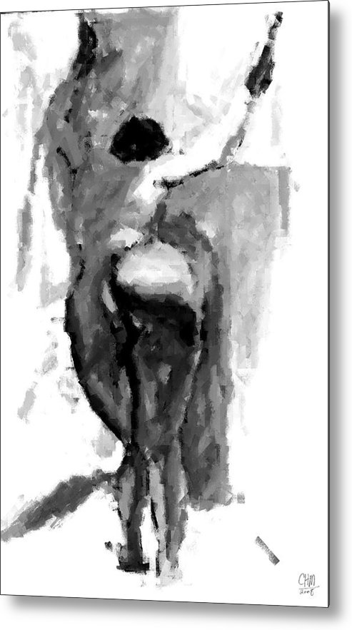 Figure Metal Print featuring the drawing Study I by Cartoon Hempman