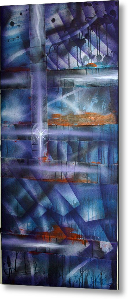 Purple Metal Print featuring the painting Purple by Leigh Odom