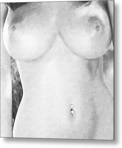 Nude Woman Metal Print featuring the painting Nude Women by Snowflake Obsidian