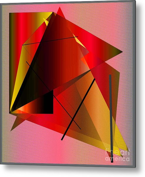 Abstract Metal Print featuring the digital art Abstract 2010 by Iris Gelbart