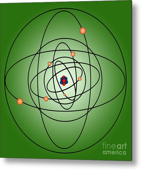 Science Metal Print featuring the photograph Atomic Structure Model by Science Source