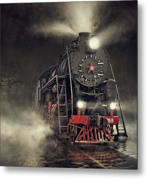 Train Metal Print featuring the photograph Beyond Express by Dmitry Laudin