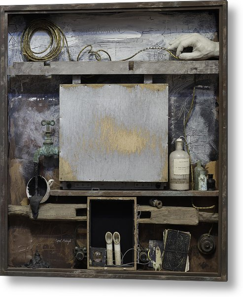 Metal Print featuring the mixed media Cabinet Of Old Psychoanalyst by Sergey Meytuv
