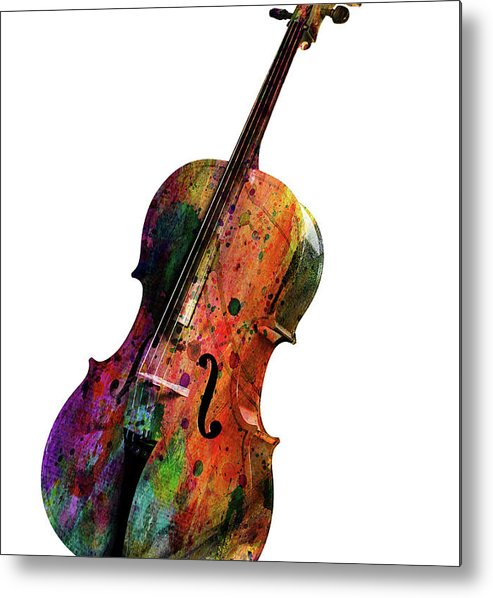 Cello Metal Print featuring the painting Cello by Mark Ashkenazi