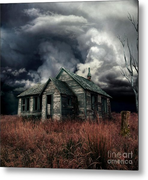 haunted House Metal Print featuring the digital art Just Before The Storm by Aimelle