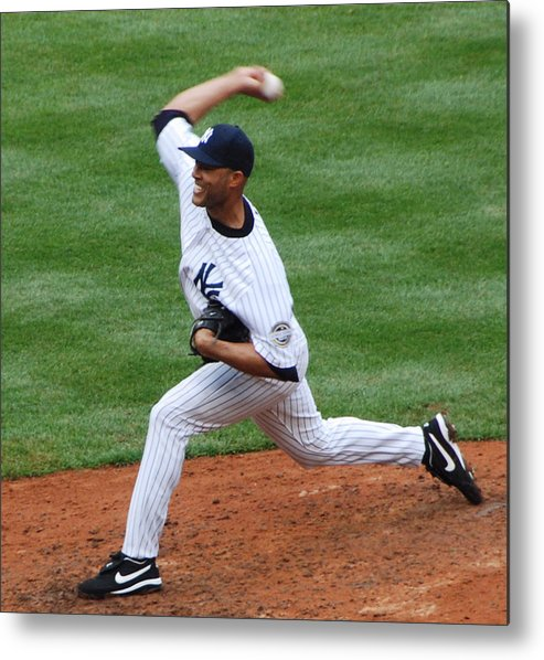 Sports Metal Print featuring the photograph Mariano by John Schneider