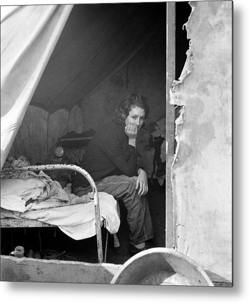 1936 Metal Print featuring the photograph Migrant Worker, 1936 by Granger