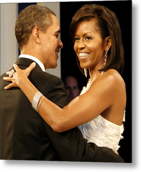 Photograph Metal Print featuring the digital art President And Michelle Obama by Official Government Photograph