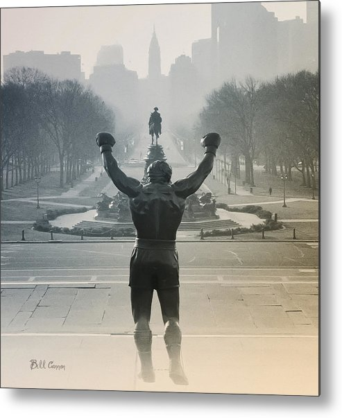 Rocky Metal Print featuring the photograph Yo Adrian by Bill Cannon