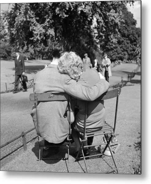 Mid Adult Metal Print featuring the photograph Romantic Couple by Haywood Magee
