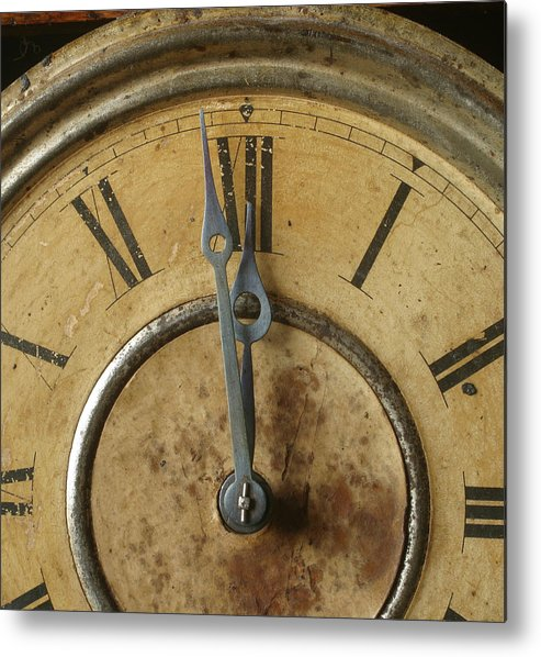 Vertical Metal Print featuring the photograph Antique Clock 6 by Jack Dagley