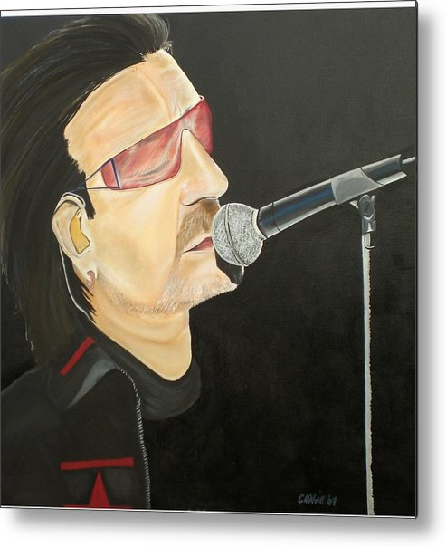 Bono Metal Print featuring the painting Bono by Colin O neill