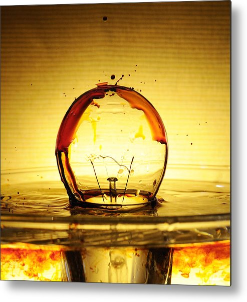 Bulb Metal Print featuring the photograph Bulb Fiction by Ivan Vukelic