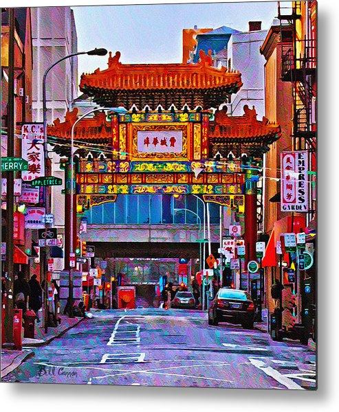 Chinatown Arch Philadelphia Metal Print featuring the photograph Chinatown Arch Philadelphia by Bill Cannon