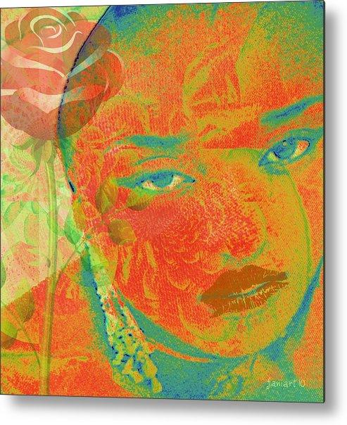 Faniart Metal Print featuring the digital art Eyes Of Nigeria by Fania Simon