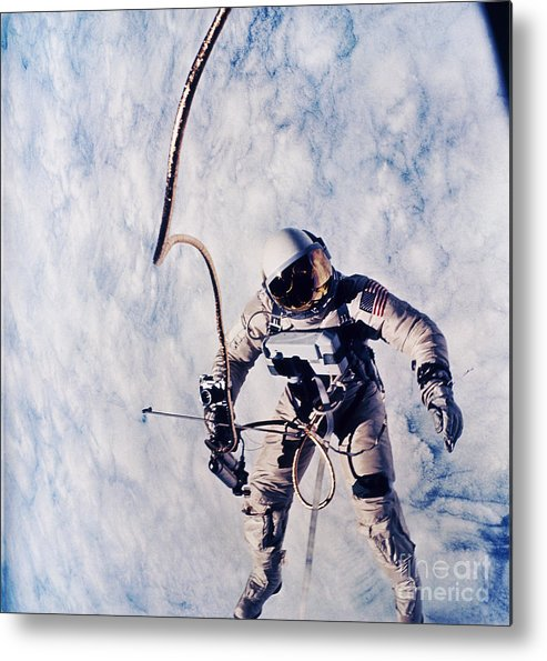 Extravehicular Activity Metal Print featuring the photograph First Spacewalk by Nasa