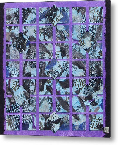 Mixed Media Metal Print featuring the mixed media Fragmented by Michele Caporaso