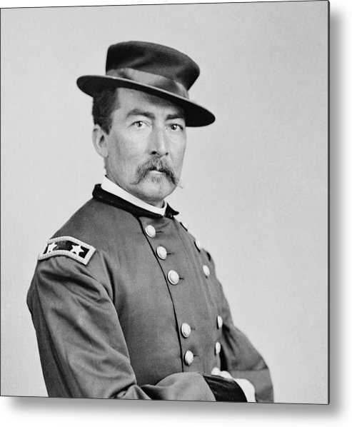 General Metal Print featuring the photograph General Sheridan by War Is Hell Store