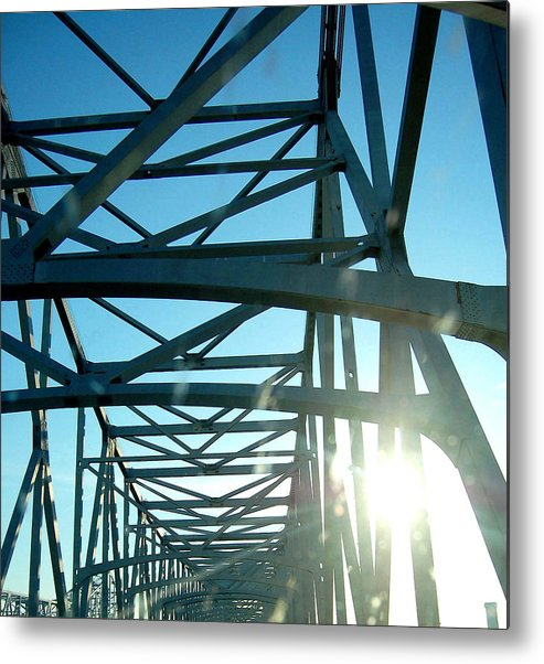 Bridge Metal Print featuring the photograph Goin To New Orleans by Heather S Huston