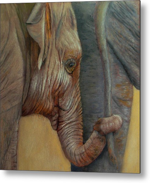 Africa Metal Print featuring the painting Now You Hold On Tight by Ceci Watson
