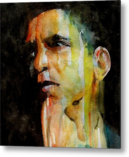 Barack Obama Metal Print featuring the painting Obama by Paul Lovering