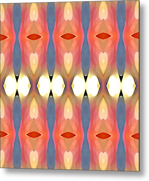 Abstract Art Metal Print featuring the painting Paradise Repeated by Amy Vangsgard