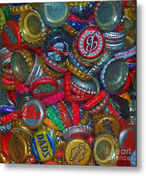 Bottles Metal Print featuring the photograph Pop Art by Debbi Granruth