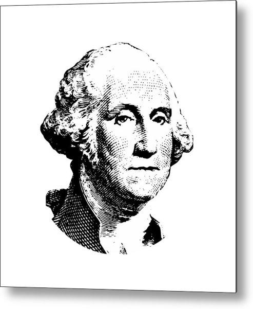 General George Washington Metal Print featuring the digital art President Washington by War Is Hell Store