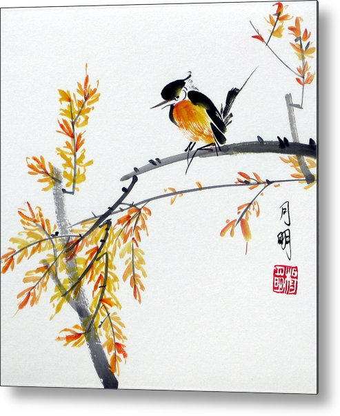 Chinese Painting Metal Print featuring the painting Tranquil Charm by Ming Yeung