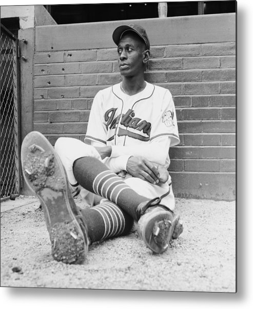 Timeincown Metal Print featuring the photograph Satchel Paige by George Silk