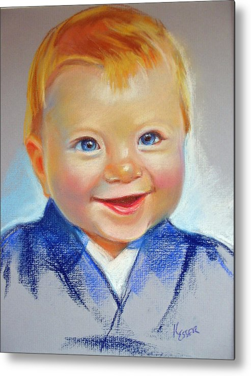 Baby Metal Print featuring the painting Hunter by Kaytee Esser