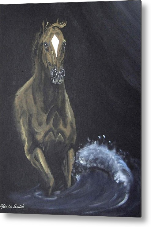 Horse Metal Print featuring the painting Surf Runner by Glenda Smith