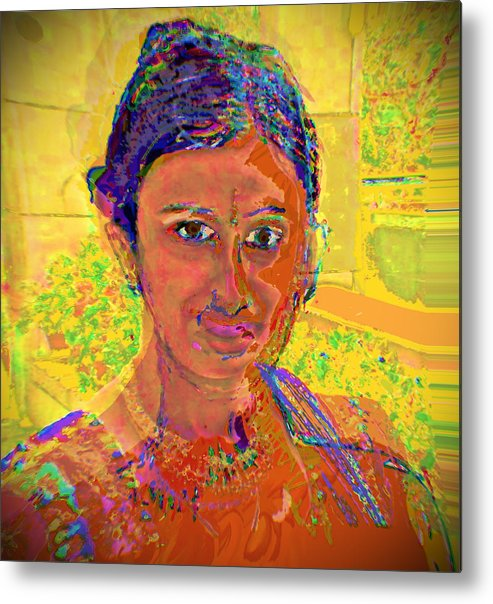 Portrait Metal Print featuring the digital art Gopika by Noredin Morgan