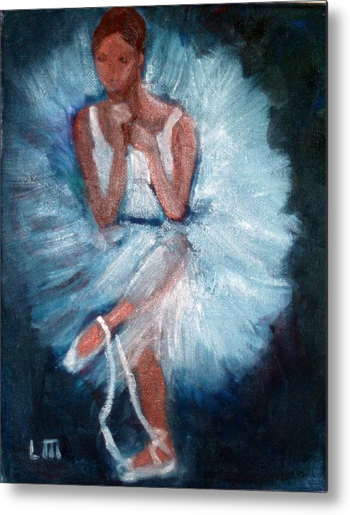 Classical Dance Metal Print featuring the painting Ballerina 2 by Lia Marsman