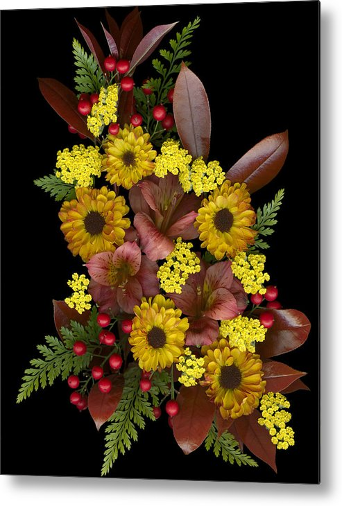 Floral Metal Print featuring the photograph Fall Collection by Marsha Tudor