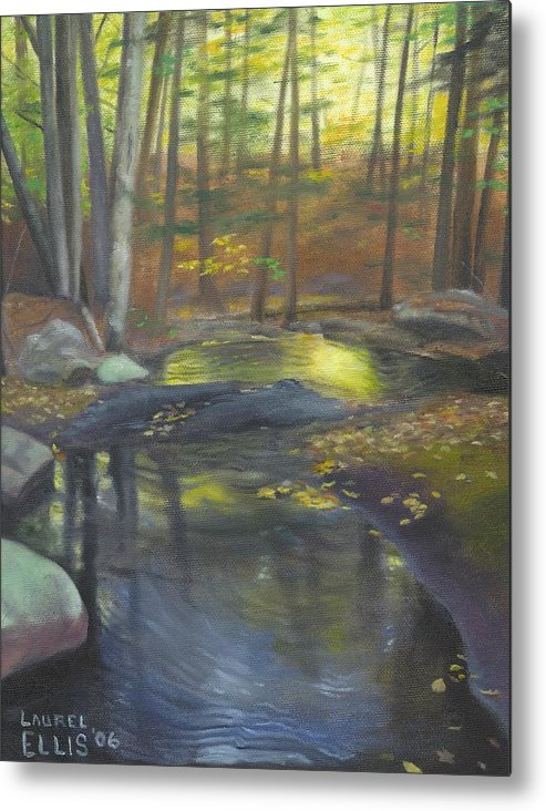 Landscape Metal Print featuring the painting The Wading Pool by Laurel Ellis