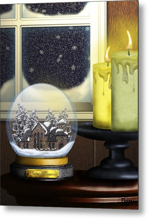 Snow Metal Print featuring the digital art Winter Memories by Carl Perry