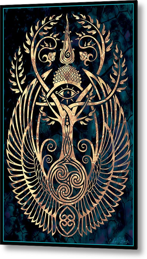 Spirituality Metal Print featuring the digital art Altar #1 by Cristina McAllister