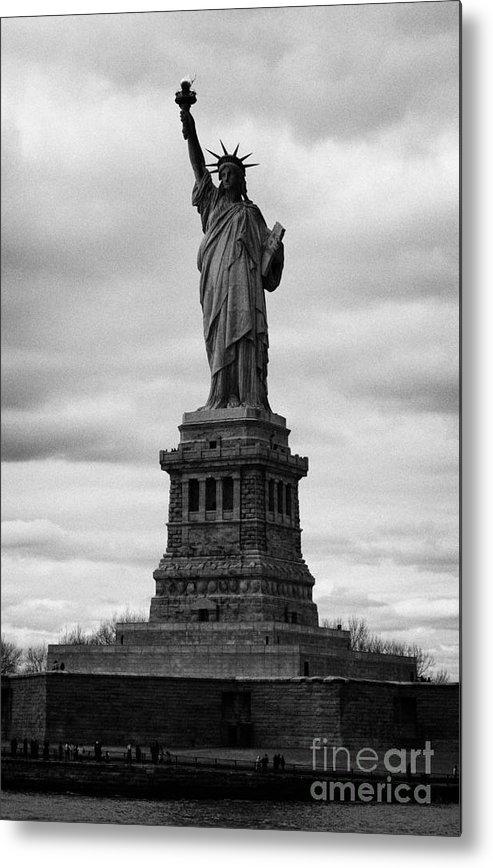Usa Metal Print featuring the photograph Statue Of Liberty National Monument Liberty Island New York City Usa by Joe Fox